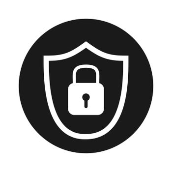 virus shield or security shield icon for apps or websites