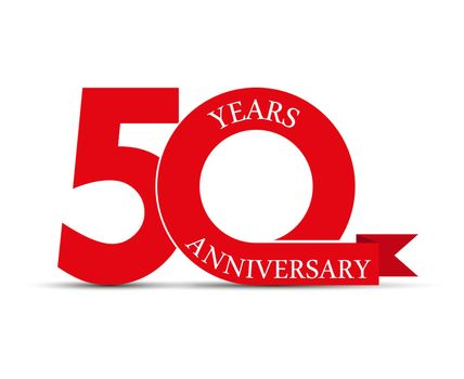 50 years anniversary, simple design, logo for decoration