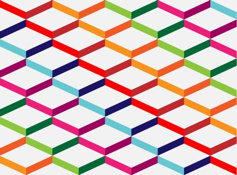 Abstract colorful geometric background, the simulation volume