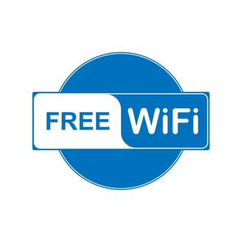 WiFi access. Information icon about free access to wireless Internet