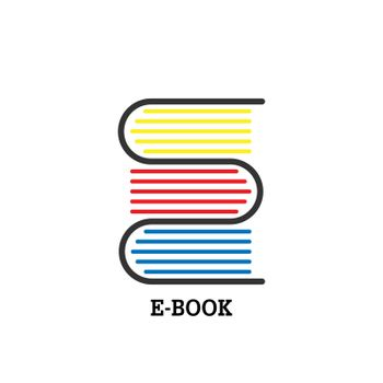 Icon or logo on a book or literary theme