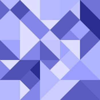 Abstract geometric background in blue tones for design and decor