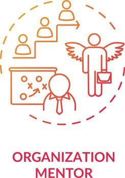 Organization mentor concept icon
