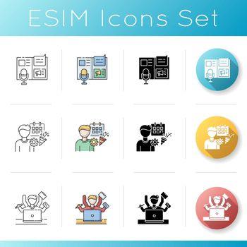 Promotion campaign icons set