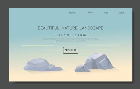 Landscape vector for the Landing page