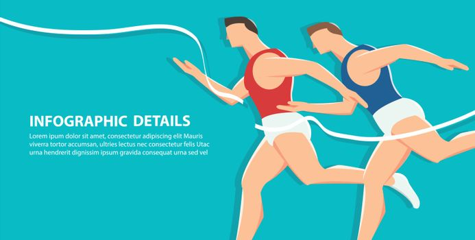 side view of running background,  health conscious concept vector illustration eps10