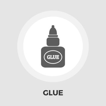 Glue icon vector. Flat icon isolated on the white background. Editable EPS file. Vector illustration.