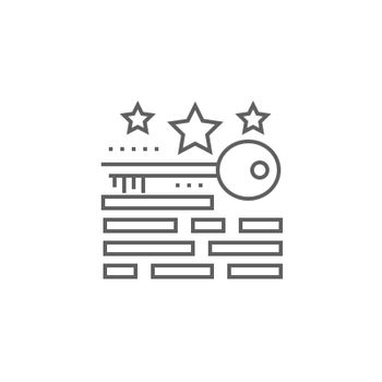 Keywords Ranking Line Icon