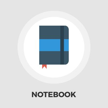 Paper notebook icon vector. Flat icon isolated on the white background. Editable EPS file. Vector illustration.