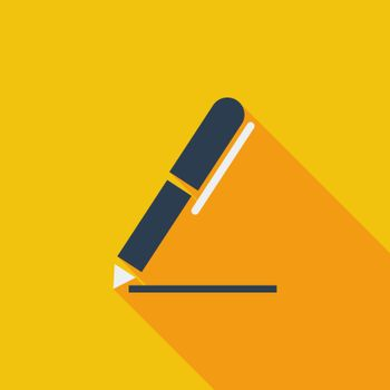 Notes icon. Flat vector related icon with long shadow for web and mobile applications. It can be used as - logo, pictogram, icon, infographic element. Vector Illustration.