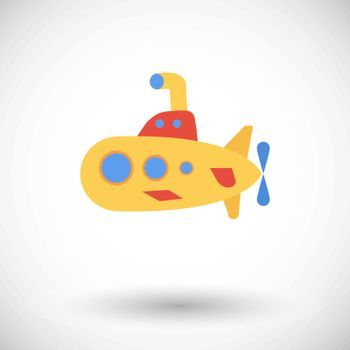 Submarine icon. Flat vector related icon for web and mobile applications. It can be used as - logo, pictogram, icon, infographic element. Vector Illustration.