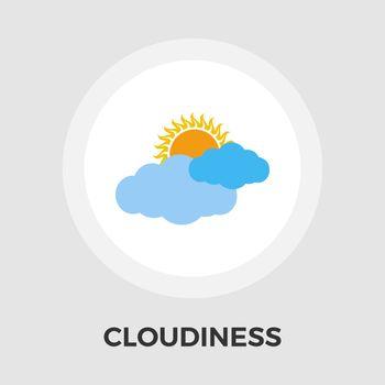 Overcast vector flat icon