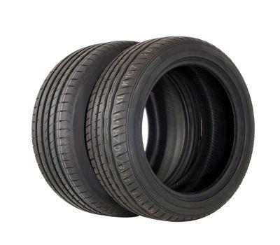 brand new two modern summer sports tire