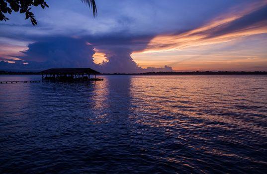 sunset in Bocas del Toro