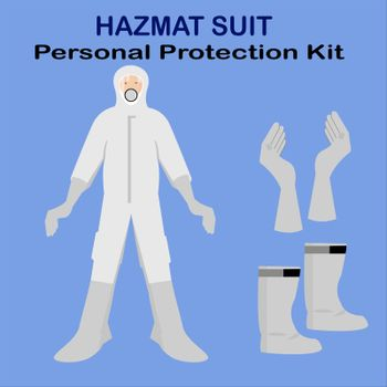 hazmat suit personal protection kit for safety