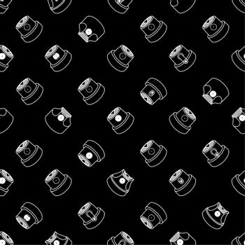 Abstract Graffiti Spray Caps Assorted Seamless Pattern. Vector Illustration