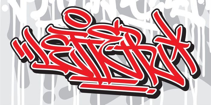 Word Letter Graffiti Font Lettering