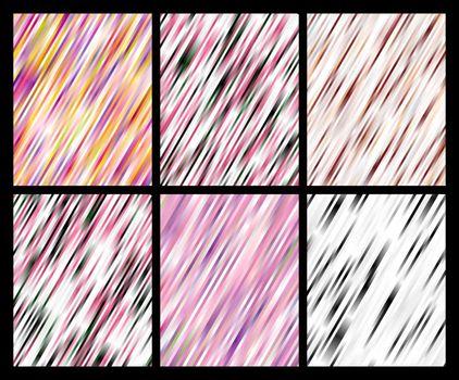 set of striped color backgrounds vector patterns