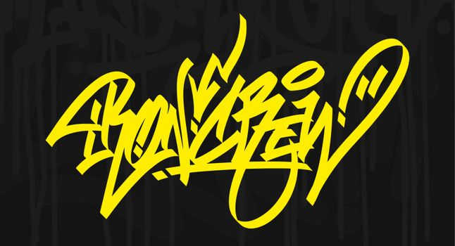 Word Ironcrew Graffiti Lettering With A Dark Background