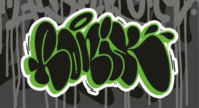 Ronik Graffiti Font Lettering With A Grey Background
