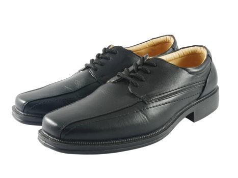 Closeup of black male ellegant shoes