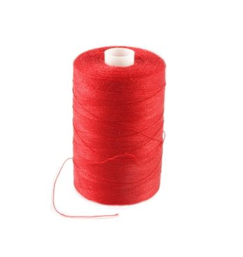 red threads  isolated on white