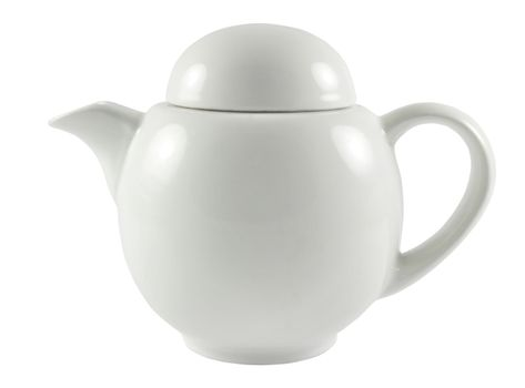 white old tea kettle over white