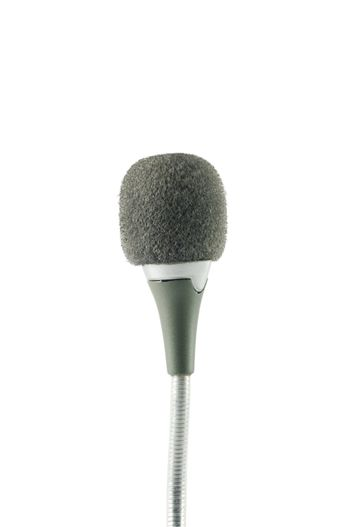 Small microphone over white surface