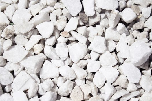 Bright white stone floor. No people