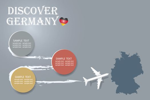 Discover Germany template vector