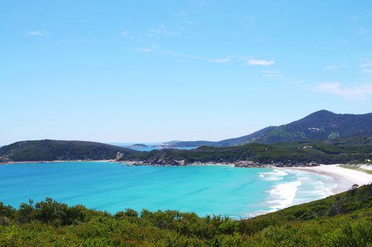 Australian beautiful blue coastline