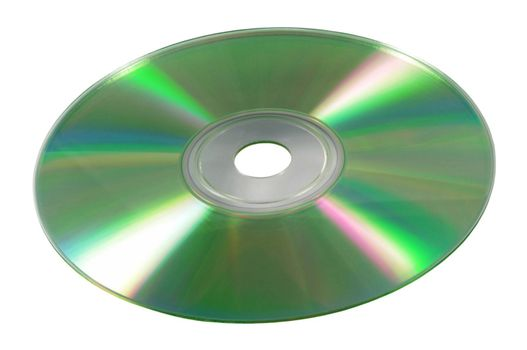 Close up of cd disk isolated on background