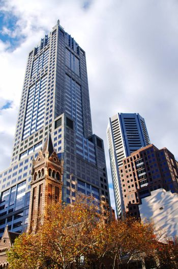 beautiful different style buildings in Melbourne