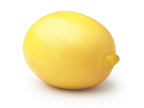 Whole lemon isolated on white. Clipping paths,infinite depth of field