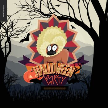 Halloween Party composed sign