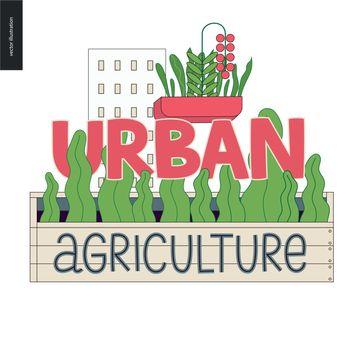 Urban farming and gardening logo
