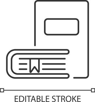 Bookstore pixel perfect linear icon