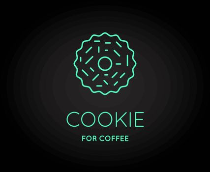 Vector Coffee Accessories Icon with Letter Sign can be used as Logotype