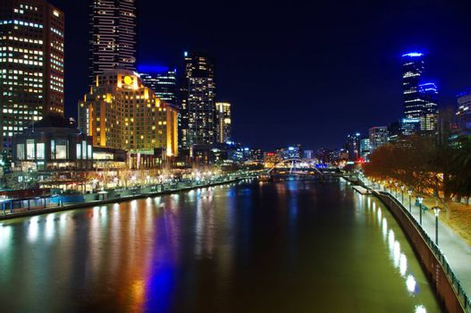 view on Melbourne City at night
