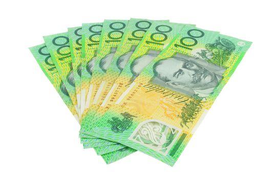 australian hundred dollars notes on white surface