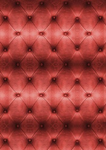 Old Red Vintage leather close-up and detail Sofa background