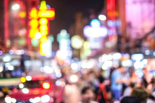 Boken in city night china town