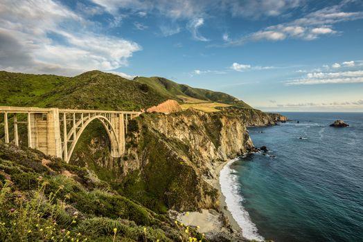 Bixby Bridge and Pacific Coast Highway