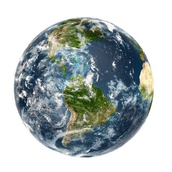 Earth planet on white background high resolution