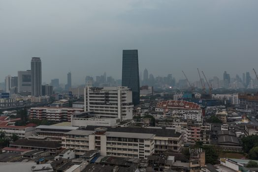 Smog PM2.5 dust exceed standard value of Bangkok