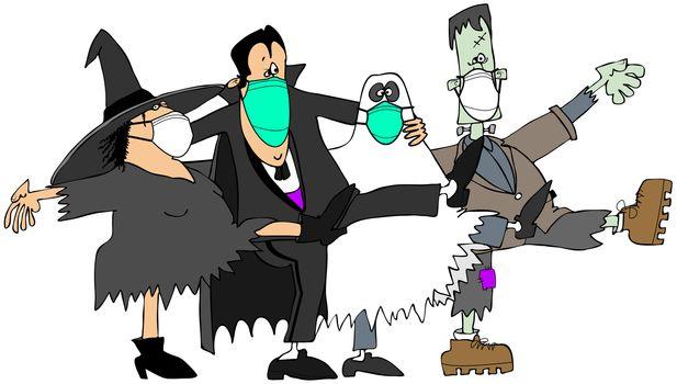 Covid-19 Halloween monsters