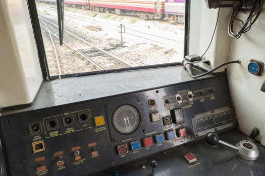 Cockpit of Thai train