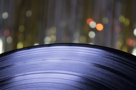 LP Vinyl on blurred background