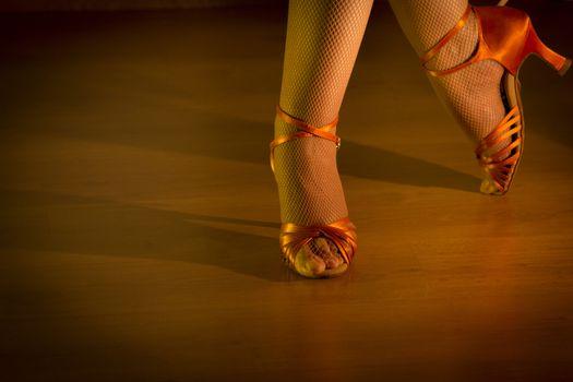 Latin woman dancing feet by Gema Ibarra