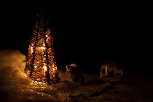 Snow Christmas scenics